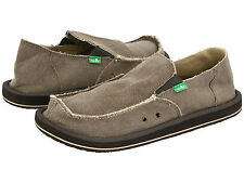 Men Sanuk Vagabond Slip On Canvas SMF1001 Brown 100% Authentic Brand New