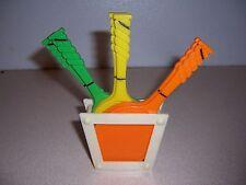 Vtg Plastic Tennis Racquet Drink Coaster Set - Florida Souvenir
