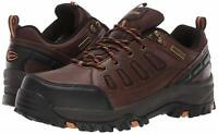 Skechers Mens Relment-semego Low Top Lace Up Walking, Dark Brown, Size 10.0 JFd5