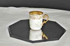 JEAN POUYAT Limoges JPL Green Gold Scrolls & Trim Demitasse Cup Only France