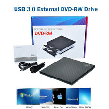 USB 3.0 External DVD RW Drive CD DVD Rewriter Burner Reader for Laptop PC MAC UK