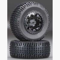 Team Associated RC10SC5M 91104 KMC Hex Wheels/Tires, black, mounted (hex)