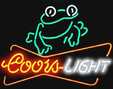 "New Coors Light Frog Beer Neon Light Sign 20""x16"""