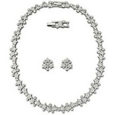 "SWAROVSKI SILVER CRYSTAL JEWELERY ""MERRY EARRING & NECKLACE SET"" M.I.B  1062635"