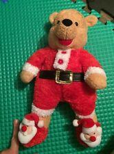 "Disney Store Exclusive Winnie The Pooh Stuffed Plush Santa Pajamas Slippers 15"""