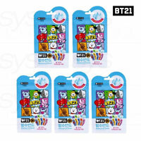 BTS BT21 Official Authentic Goods Waterproof Band 10P 5SET + Tracking Number