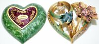 JAY STRONGWATER BIRD WITH FLOWER HEART TRINKET BOX HAND SIGNED IN DALLAS