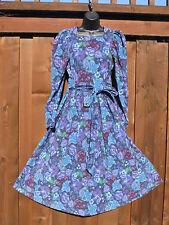 Vintage Laura Ashley Corduroy Victorian Long Full Dress Sz US 10/Euro 38 Cotton