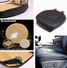 Car Front Seat Cover PU Leather Deluxe Universal  Protector Cushion Pad Black X1