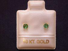 Feinste Smaragd Ohrstecker Ohrringe - 3 mm - 10 Kt. Gold - 417 - Brillantschliff