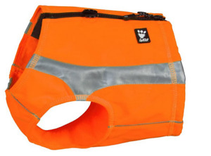 Hurtta Polar Visibility Vest Keeps Dog Dry, Warm And Safe XXS Orange