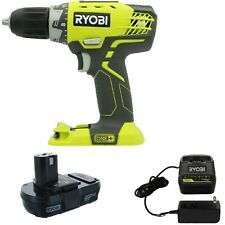 New Ryobi P208 One+ 18V Lithium Ion Drill/Driver+ P118B Charger and P102 Battery