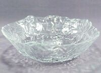 Vintage Clear Pressed Glass Soup Cereal Bowl