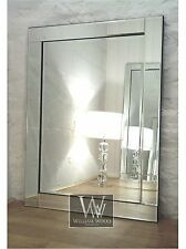 "Modern Rectangle Bevelled Wall Mirror - Blenheim 36"" x 24"" (90cm x 60cm)"