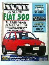 ►L'AUTO-JOURNAL 12/1991; Fiat 500/ Golf face à ses rivales/ Audi 80/ Honda Civ