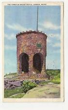 CAMDEN ME Mount Battie Tower Vtg Maine Postcard