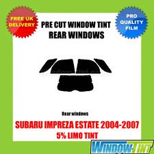 SUBARU IMPREZA ESTATE 2004-2007 5% LIMO REAR PRE CUT WINDOW TINT