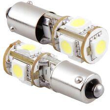 2X BAX9S H6W AMPOULE LAMPE SANS ERREUR 5050 SMD 5 LEDs BLANC 12V CANBUS VOITURE
