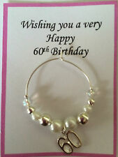 Wine Glass Charm 30th 40th, 50th, 60th, Birthdays Gift, present
