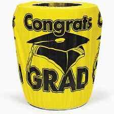Graduation Yellow Congrats Grad Trash Can Cover