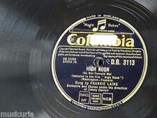 78rpm FRANKIE LAINE high noon / rock of gibralta