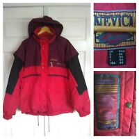 Mens Vintage Nevica Chinook 80s Ski Snowboard Jacket Size 44 M Retro Red FS-14