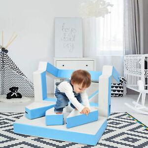 4 in 1 Spielsofa Kindersofa Kindercouch Kindertisch Puzzle Matraze Spielmatraze