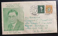 1948 Ireland First Day Cover To New York USA St Patrick's Day Famon De Valera