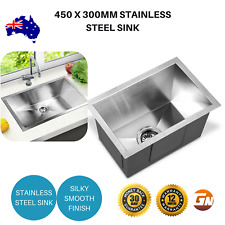 Cefito 450 x 300mm Stainless Steel Sink Bowl Laundry Wash Basin Waste Strainer