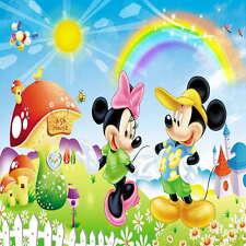 8x8FT Mickey Minnie Mouse Rainbow Sky Photo Studio Background Backdrop Vinyl