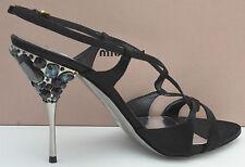Miu Miu  Satin Runway Women jewel Slingback Shoes size UK 8, EU 42, US 10