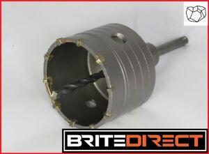 65-150mm SDS Plus Max Carbide Hole Saw Drill Bit Set Kit + Shaft Wall Stone Best
