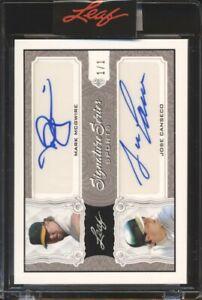 Mark McGwire / Jose Canseco - 2021 Leaf Signature Series #D 1/1 Auto Autograph