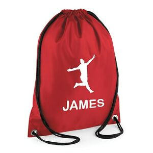 Personalised Nusery Bag Drawstring PE Dance Boys Girls Kids Swim Gym School