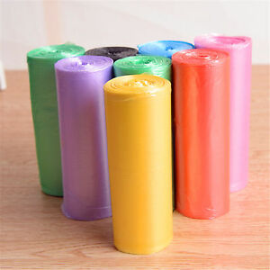 30PCS/Roll 7 Colors Rubbish Garbage Kitchen Toilet Clean-up Waste Trash Bags