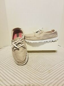 Skechers On-The-Go Goga Mat Cruise 13780 Natural Womens Comfort Sneakers-Size 10