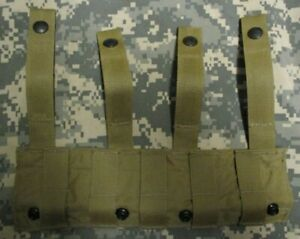 GENUINE US USAF AIRSAVE SURVIVAL VEST HORIZONTAL MOLLE MOUNTING PANEL. COYOTE.