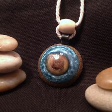 Orgonite Necklace/Pendant-Crystal Healing Energy Device-Blue Snail Shell-264