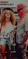 BEYONCE KNOWLES & JAY-Z - Autogrammkarte - Signed Autograph Autogramm Clippings