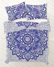 Indian Bohemian New Quilt 2 pillow Cover Cotton Duvet Doona Mandala Hippie