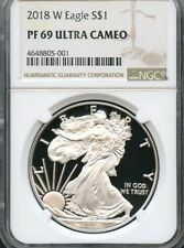2018 W Silver Eagle NGC PF69 Ultra Cameo Brown Label  ( IN STOCK )
