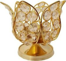 Crystal Akhand Jyot Diya Deepak Brass Finishes For hindu Pooja Home Decor Diya