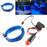 Auto Car Inside LED Decor Atmosphere Wire Strips Cold Light Lamps Blue DC 12V
