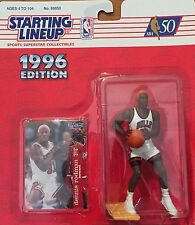 "1996 SLU Dennis Rodman NBA Orange Hair Chicago Bulls 4"" Action Figure NEW"
