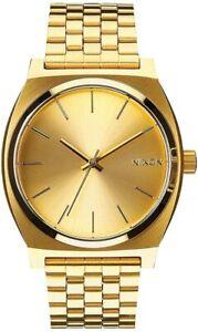 Armbanduhr Nixon A045511-00 Herren Analog Quarzuhr Faltschließe Edelstahl Gold
