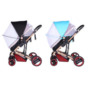 2-in-1 Baby Buggy Pram Stroller Pushchair Mosquito Net Cover&Sun Shade Canopy T