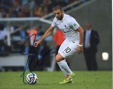 Karim Benzema Soccer Star Red Madrid Hand Signed 8x10 Photo COA French