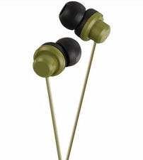 JVC Riptidz Inner Ear Stereo Earbuds Military Green for Sports Noise Isolation