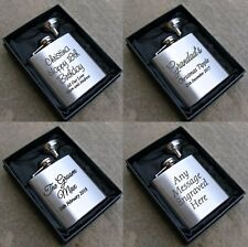 Engraved Hip Flask 18th 21st 30th 40th 50th 60th Birthday Gifts Present Ideas