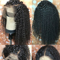 Kinky Curly Lace Front Wig 100 Real Malaysian Virgin Human Hair Wigs Baby Hair P